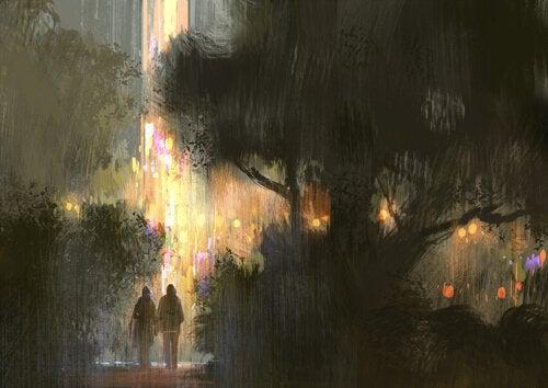 Koppel in de Regen