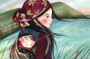 Een Moeder En Haar Kind Als Symbool Voor De Band Tussen Ouder En Kind