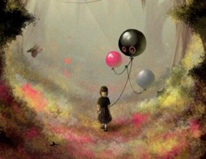 Kind met Ballonnen