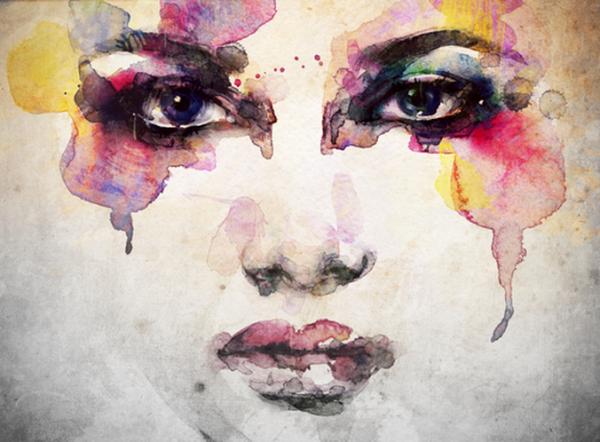 Schilderij Van Een Vrouw Want Je Kunt Je Ziel Genezen Door Kunst