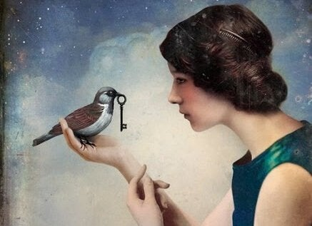 Vogel met Sleutel