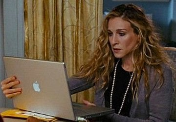 Carrie Bradshaw met Laptop