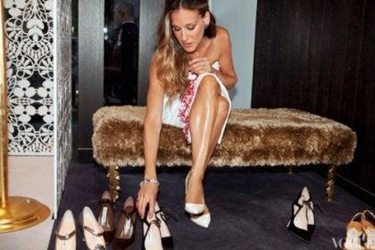 Carrie Bradshaw past schoenen