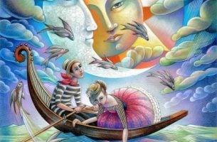 Man En Vrouw In Een Fantasiewereld En De Een Zegt Tegen De Ander: Vervul Je Dromen