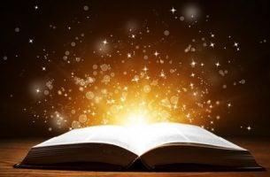 Een open boek dat licht weerkaatst voor de boekenliefhebber