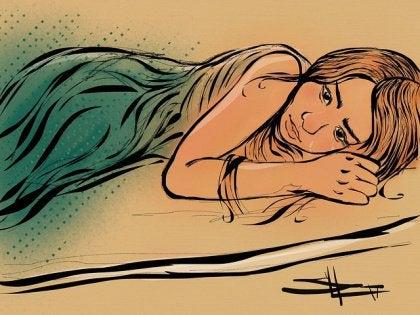 Meisje is verdrietig als gevolg van haar impulsiviteit