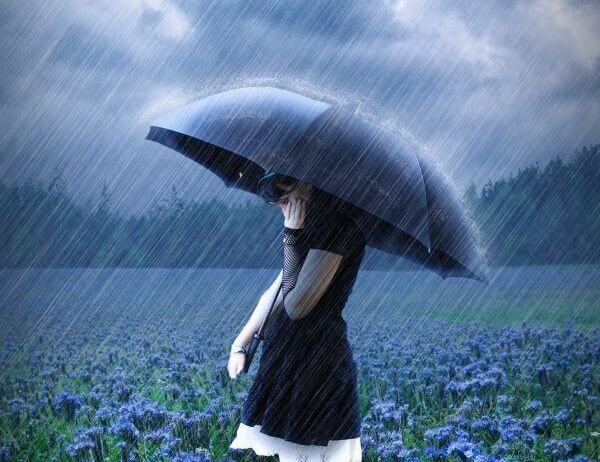 Eenzaam in de Regen