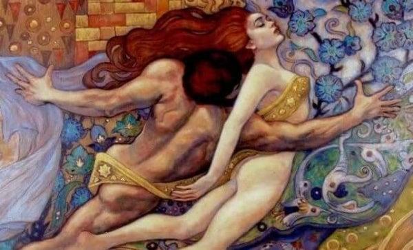 Man houdt vrouw vast als voorbeeld van partners die elkaar willen controleren