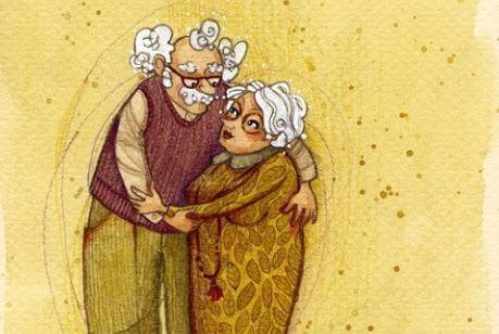 Grootouders Knuffelen