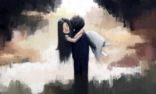 Jongen met Meisje in Armen