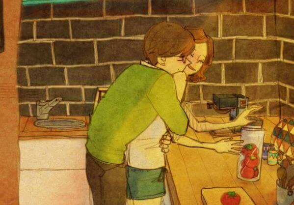 Een knuffel is een liefdesgedicht geschreven op de huid