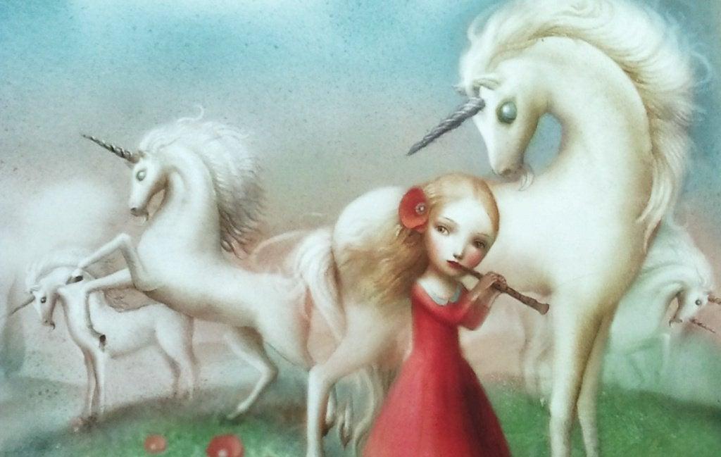Meisje en Eenhoorns