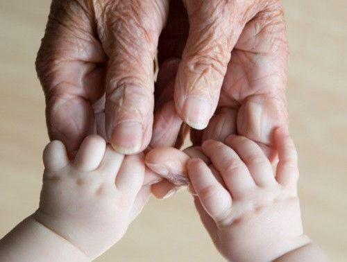 Oma en Baby