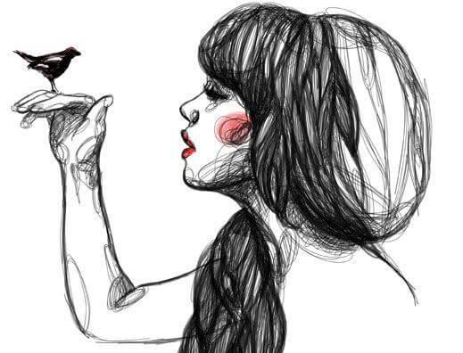 Vrouw met Vogeltje