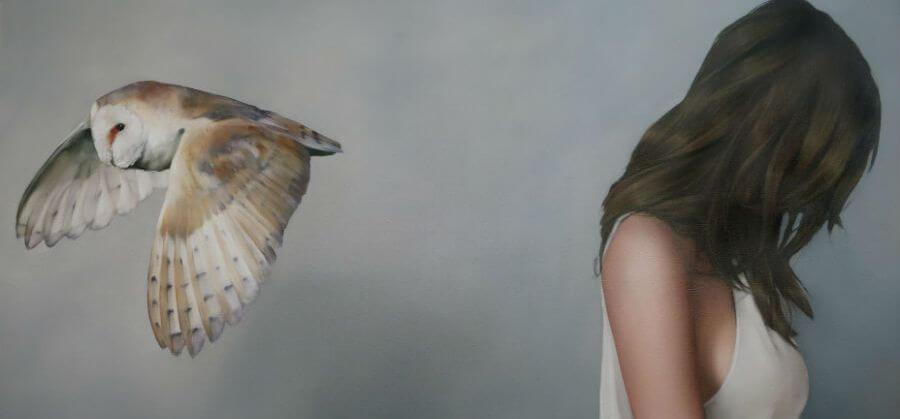 Vrouw en Uil