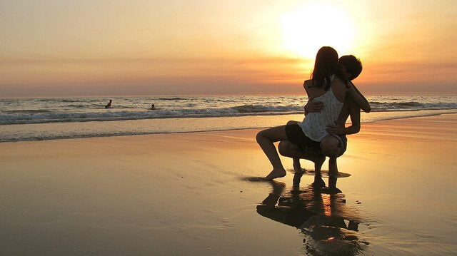 Stel op Strand