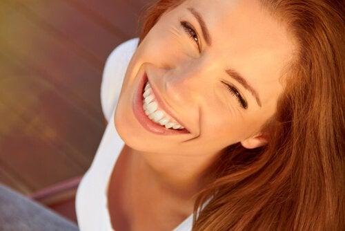 Een lach is het canvas van inspiratie
