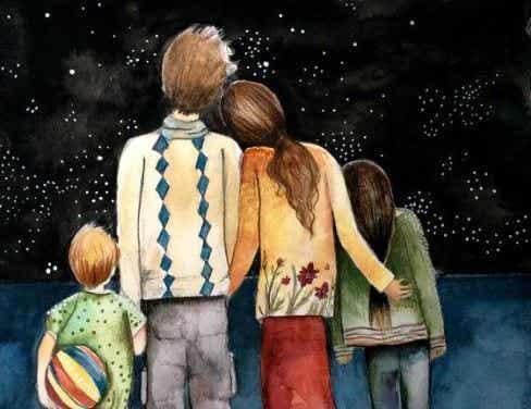 Het beeld van het perfecte gezin