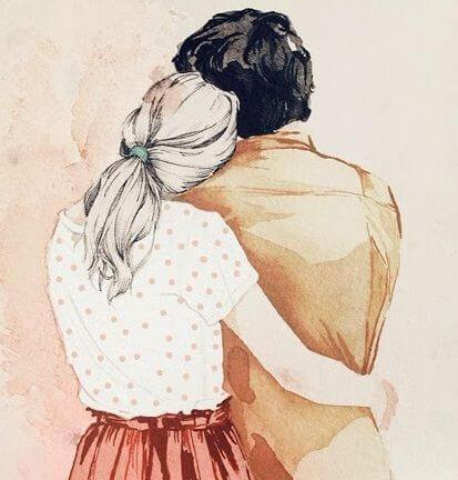 Arm om Partner