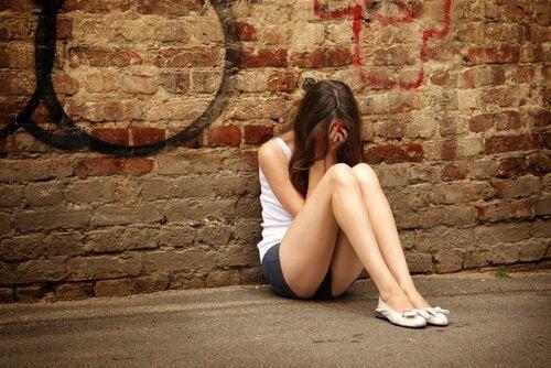 Verdrietige Tiener