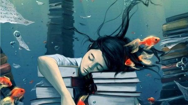 Slapen op Stapel Boeken