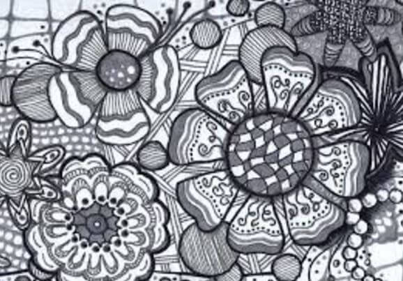Zentangle-bloemen