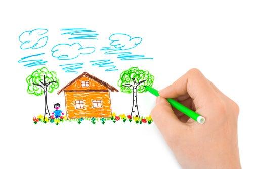 De persoonlijkheidstest van het huis, de boom en de poppetjes