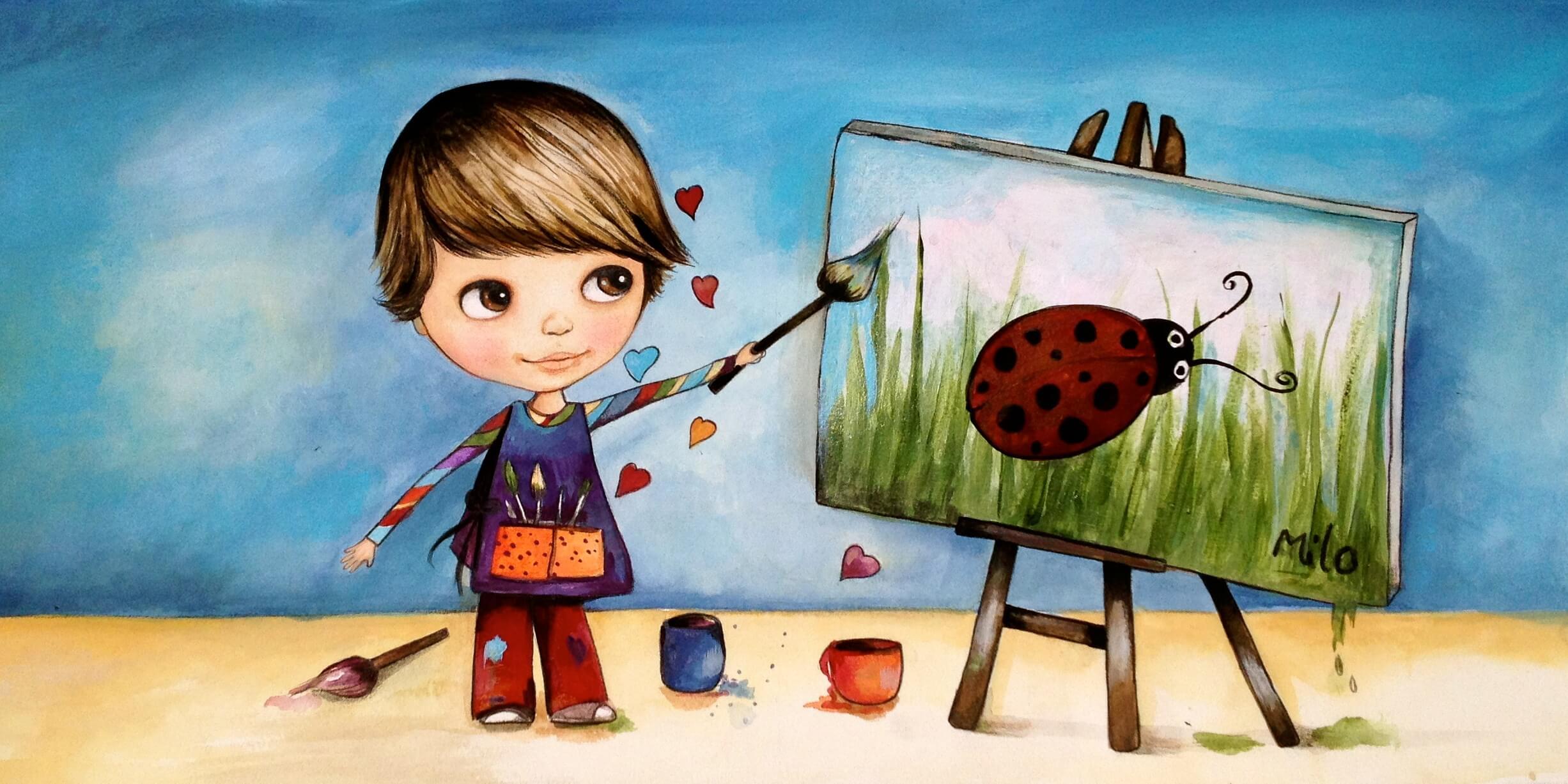 Schilderend Kind