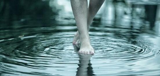 Lopen door het Water