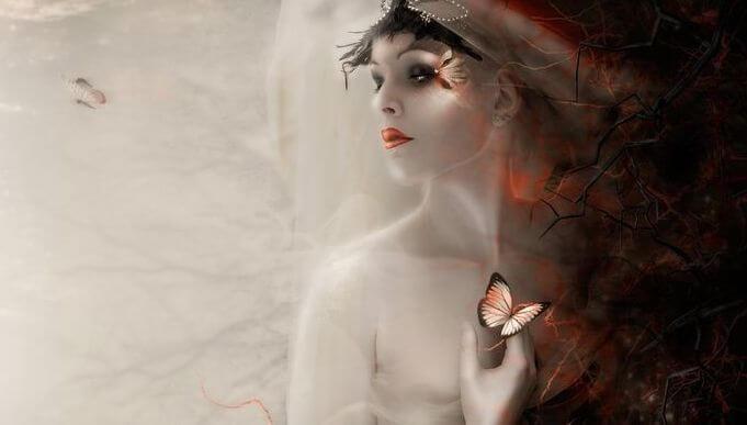 Vrouw met Vlinders