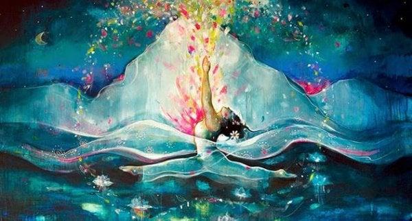 Het hart van een volwassen vrouw is een diepe zee van geheimen