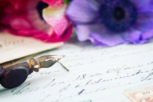 Een brief van een volwassen vrouw