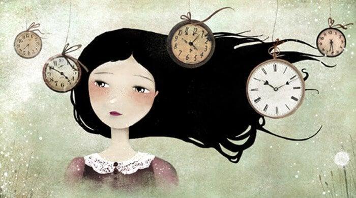 Vrouw met klokken