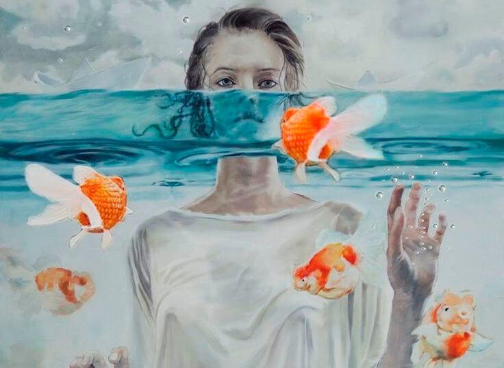 Vrouw met vissen
