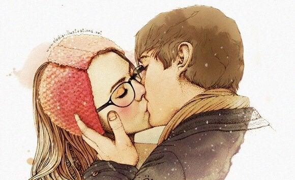 Romantische Save the Date met hartjes in watercolor Maak online je.