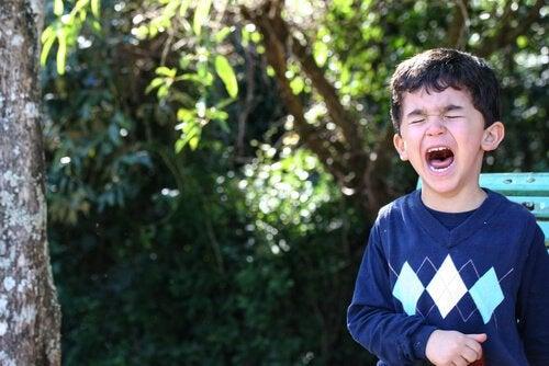 Kind met Woedeuitbarsting