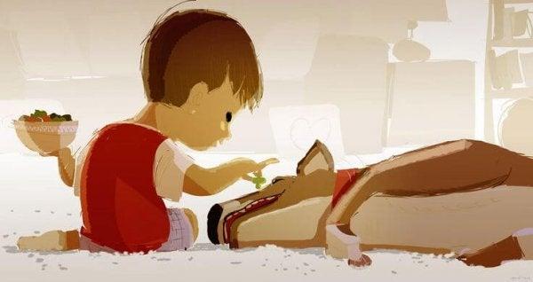 De band tussen kinderen en huisdieren