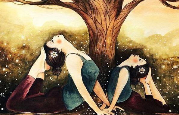 Yoga door Moeder en Dochter