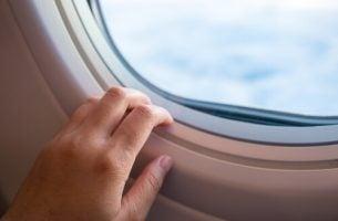 Raam Van Een Vliegtuig