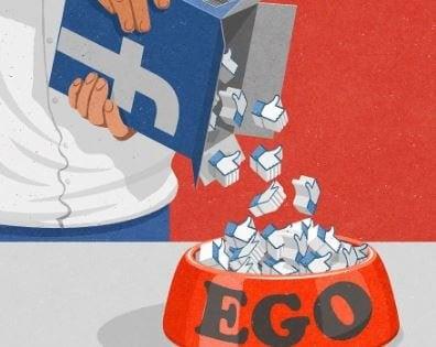 Man Gooit Facebook Likes In Hondenbak. Leren Omgaan Met Egoïstische Mensen.