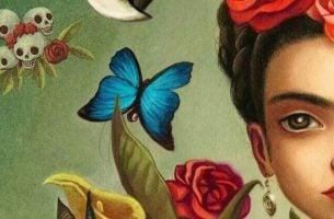 Vrouw Met Bloemen En Vlinders