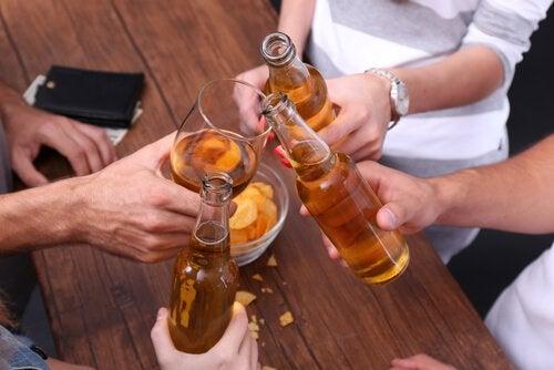 De dunne lijn tussen alcoholisme en een gewoonte