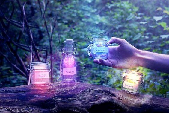 Drie Lichtgevende Potjes Met Geuren Ein