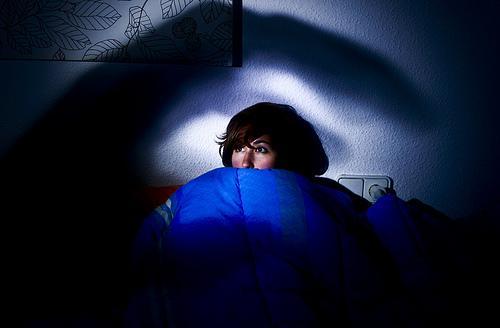 Vrouw Kan Niet Slapen Van Angst