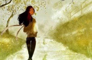 Meisje Dat Haar Eigen Weg Gaat En Van Niemand Toestemming Nodig Heeft