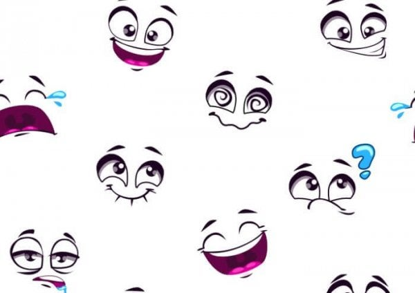 Witte Emoticons