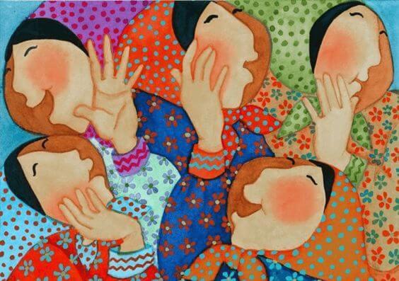 Omaatjes Met Hoofddoek Op Die Als Authentieke Mensen Spreken Zonder Angst