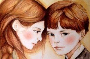 Broer en zus die tegen elkaar zeggen, we zijn niet meer wie we waren