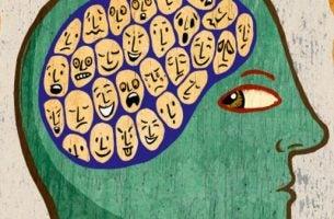 Man Met Verschillende Emoties Als Symbool Voor Emotionele Intelligentie