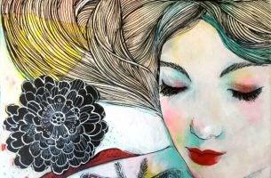 Gelukkige Vrouw In Het Thema Geluk Vinden